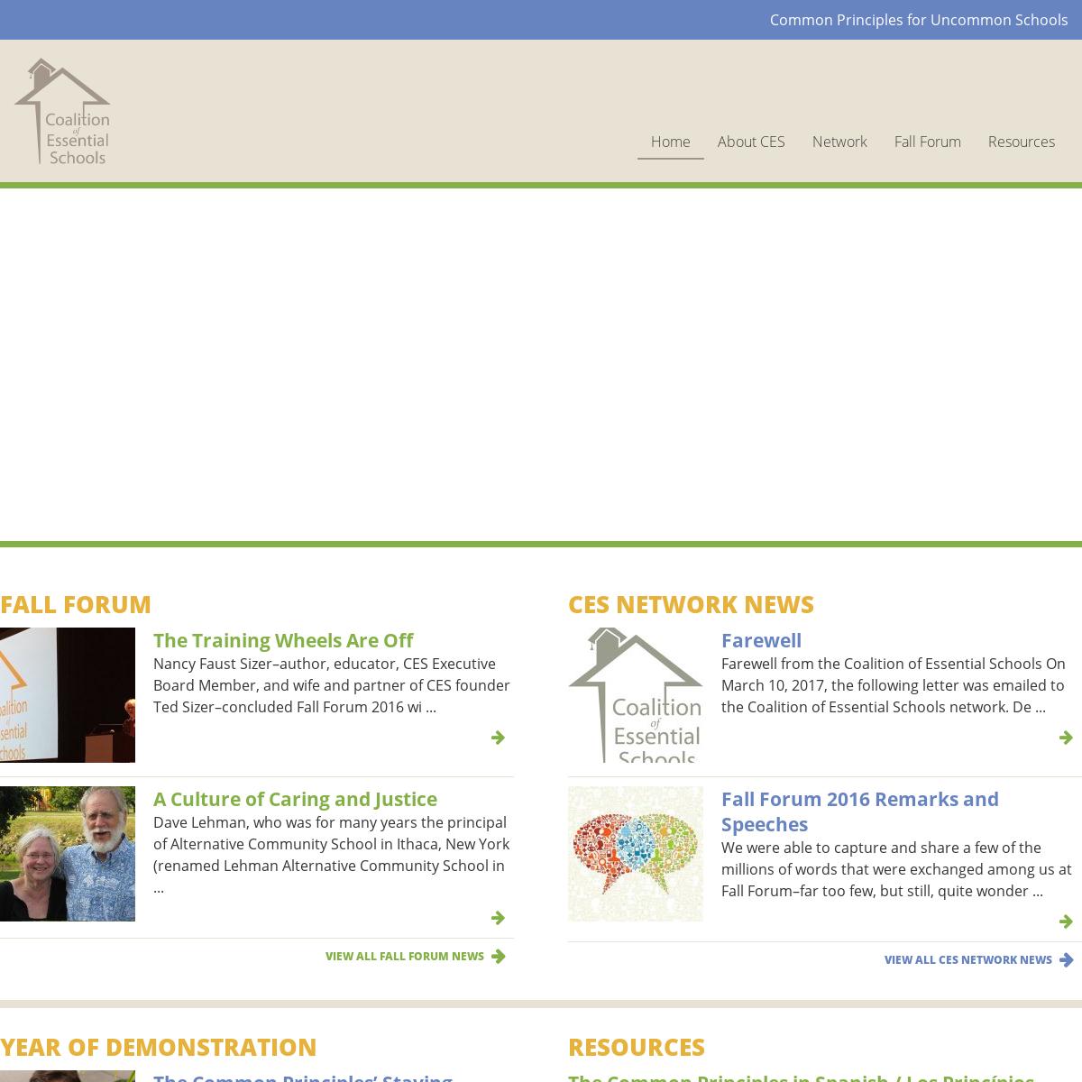 Coalition of Essential Schools - Coalition of Essential Schools
