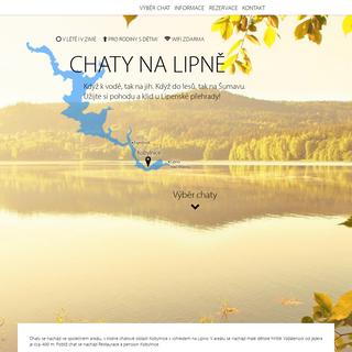 Chaty na Lipně - chatynalipne.eu