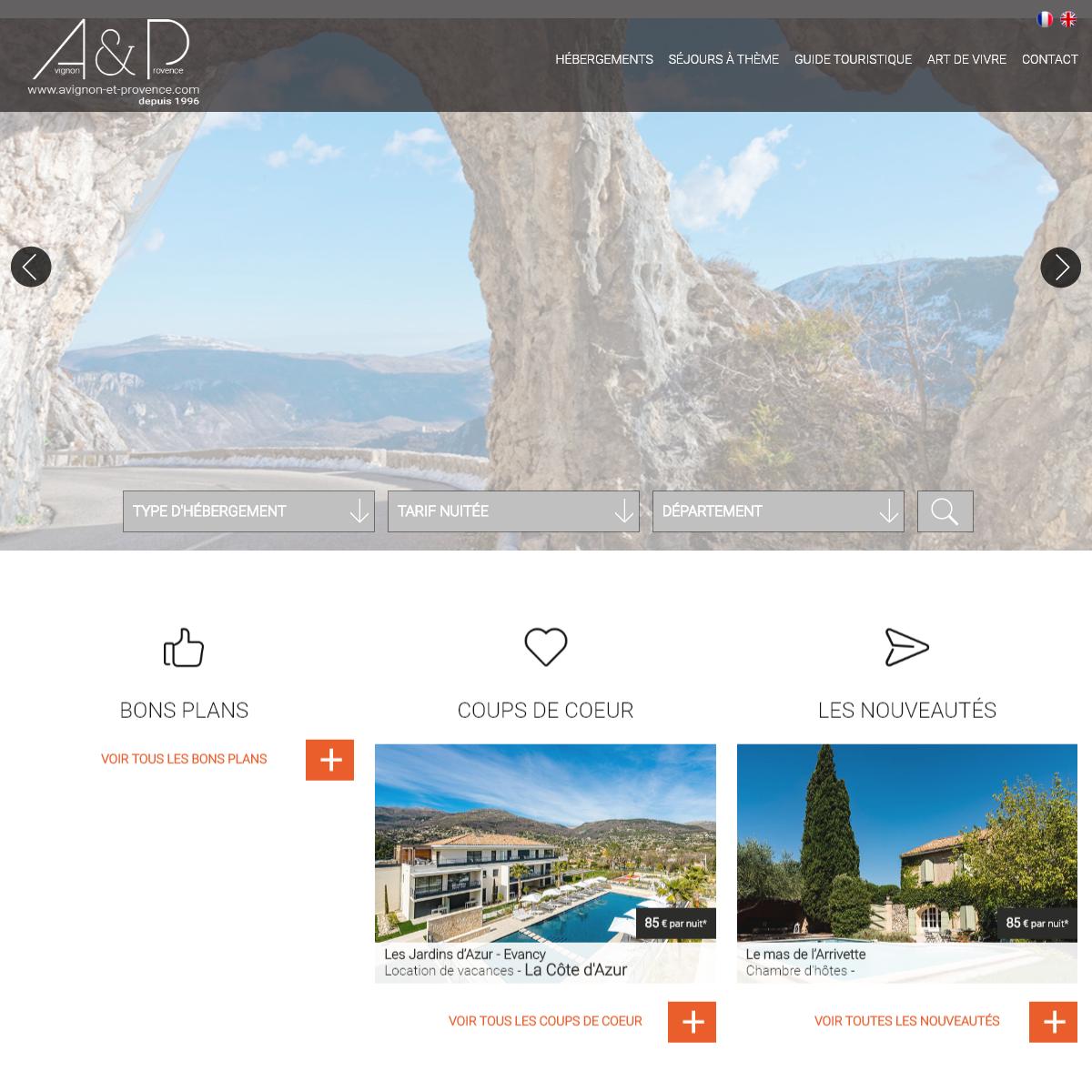 Avignon et Provence - Hebergement, tourisme et vacances en Provence et Cote d`Azur