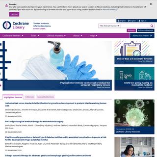 Cochrane Reviews - Cochrane Library