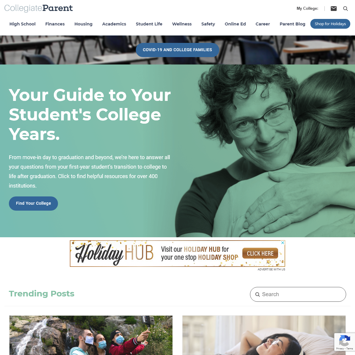 CollegiateParent - Connecting college parents with insider information about their student`s college and local community.
