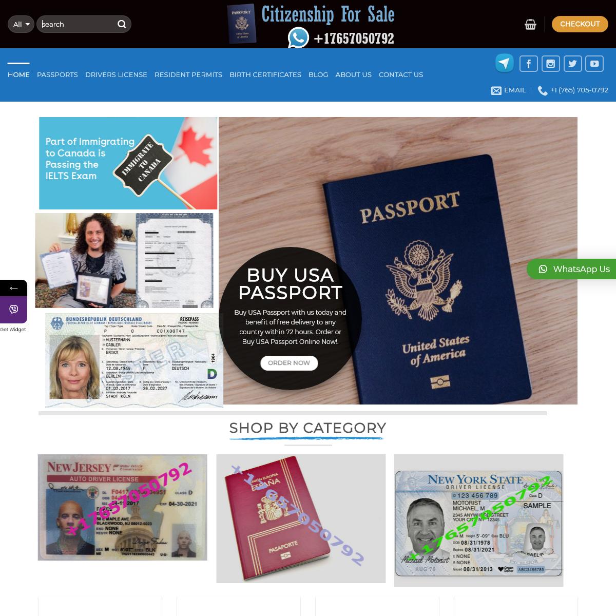 Real Passports for Sale - British, Canada Passports, UK passports for Sale