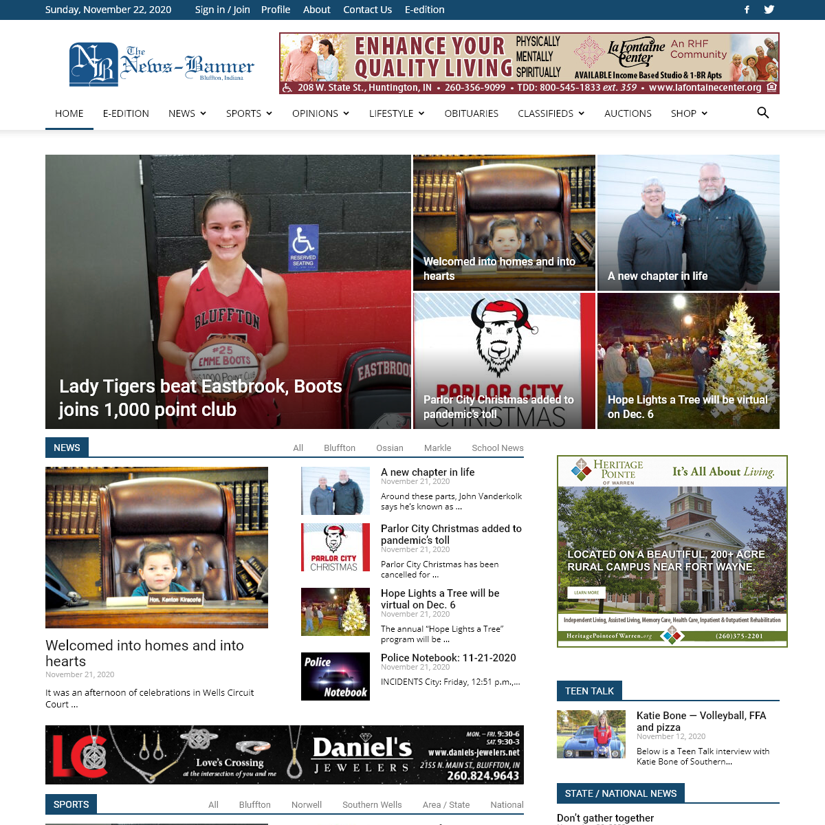 News Banner - Wells County`s Hometown Connection