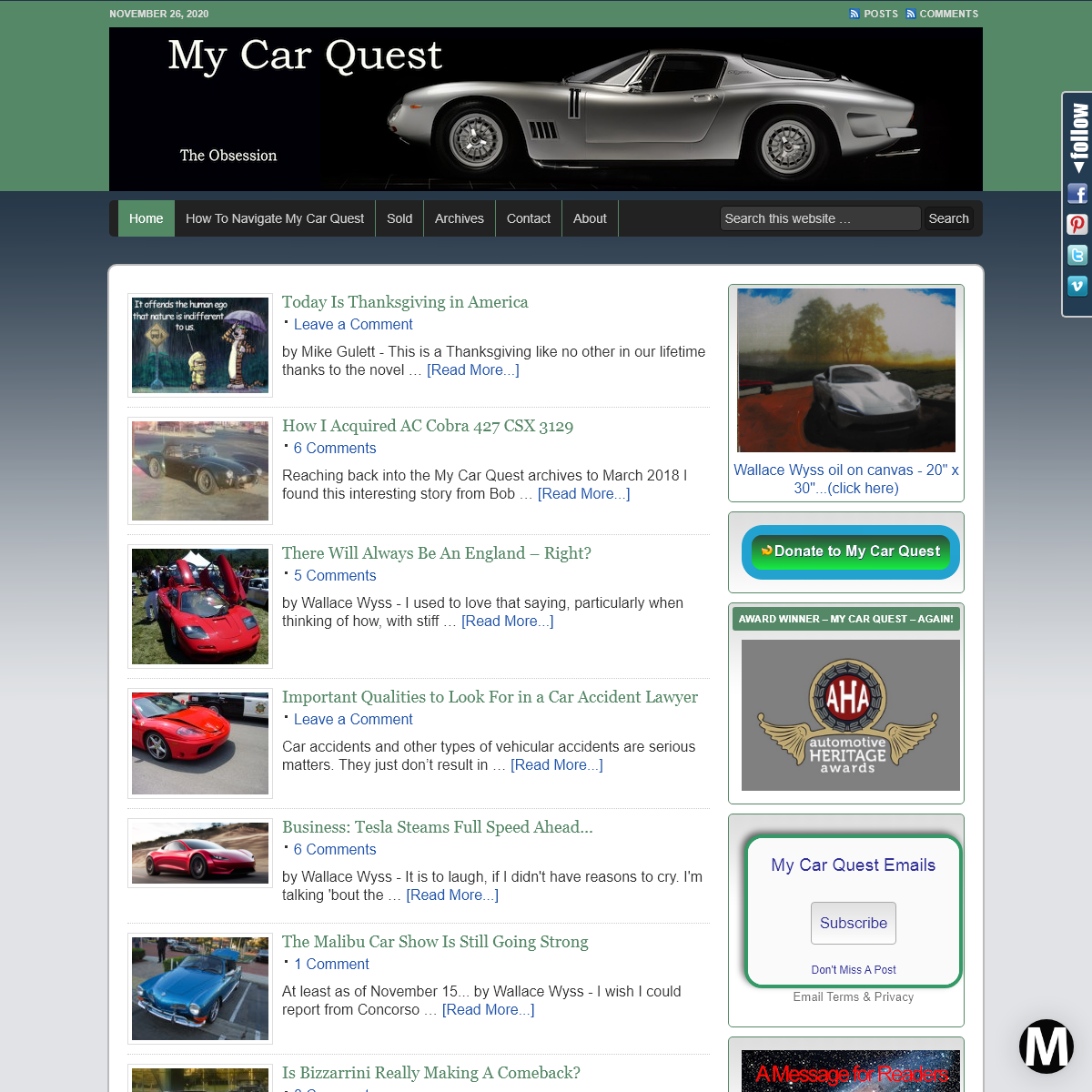 MyCarQuest.com - The Obsession