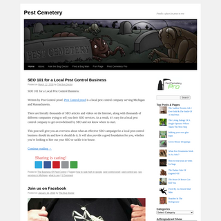 Pest Cemetery - Finally a place for pests to rest