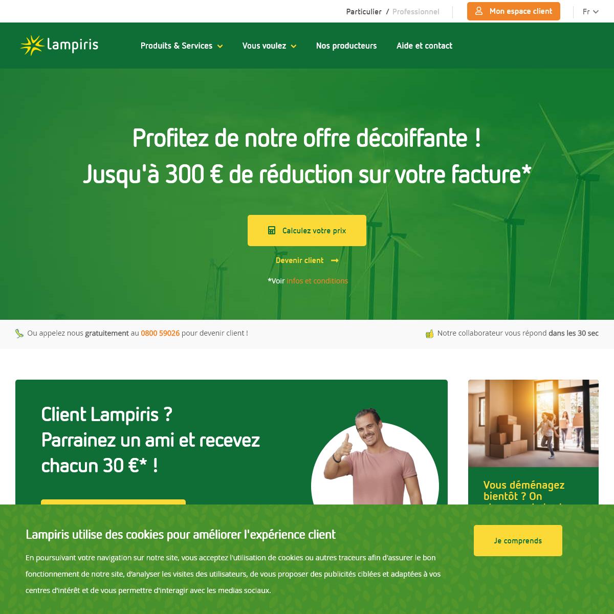 100- vert - Lampiris rend l`énergie durable accessible à tous