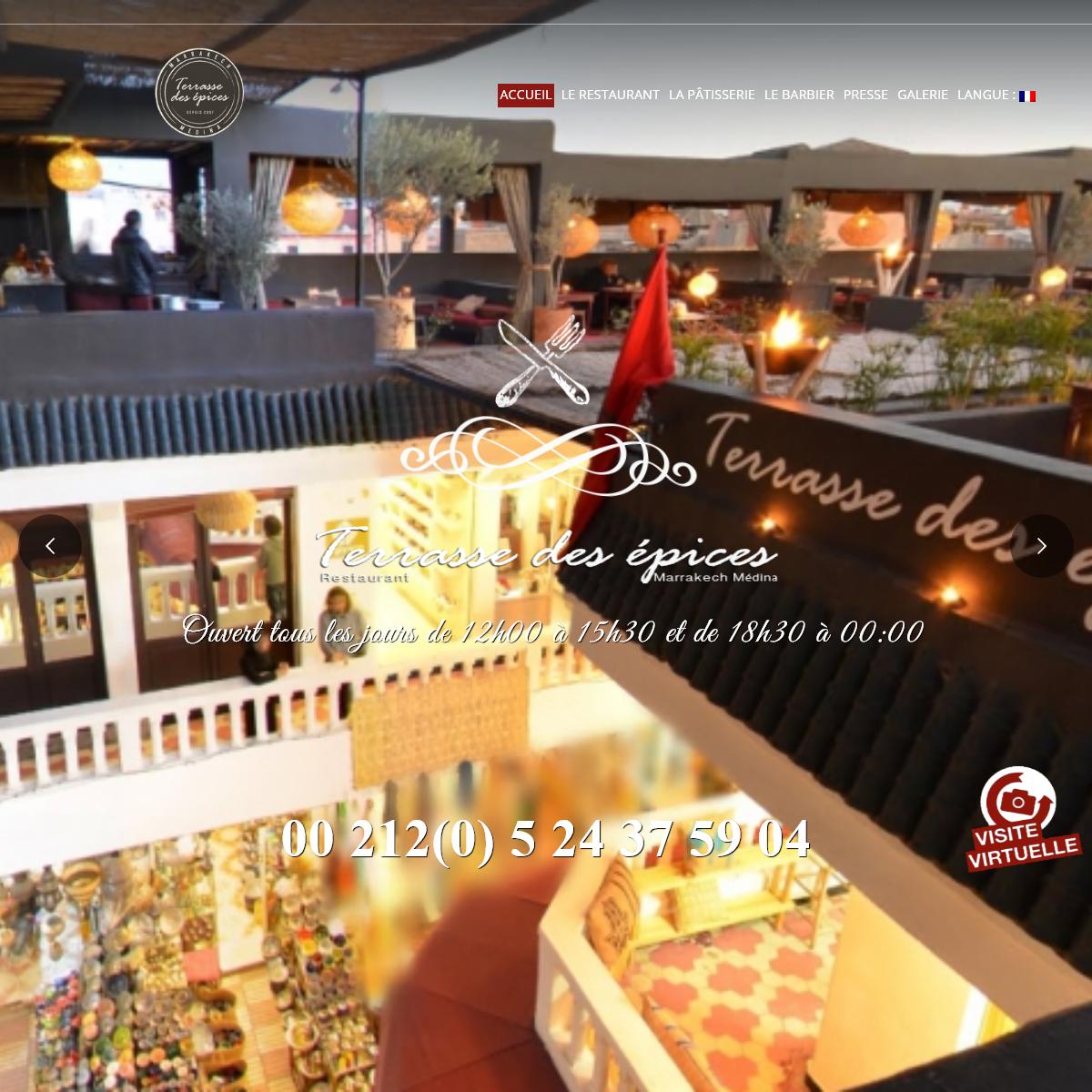 Terrasse des épices Marrakech Medina – Meilleur Restaurants Marrakech Medina