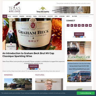 Texas Wine Lover - The premier website for Texas wine news and information