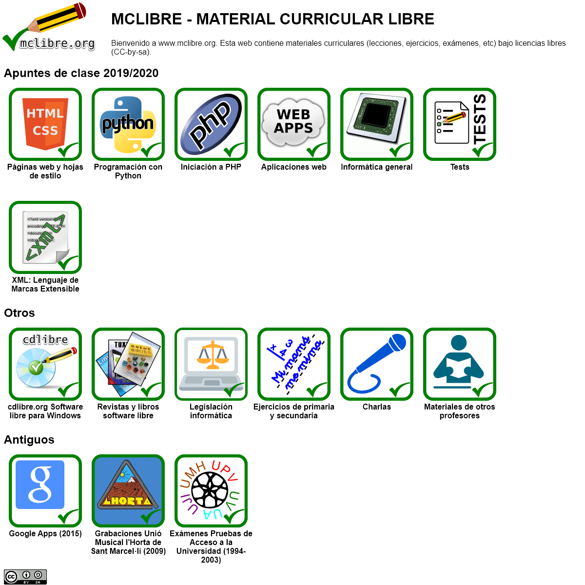 Material Curricular Libre - www.mclibre.org