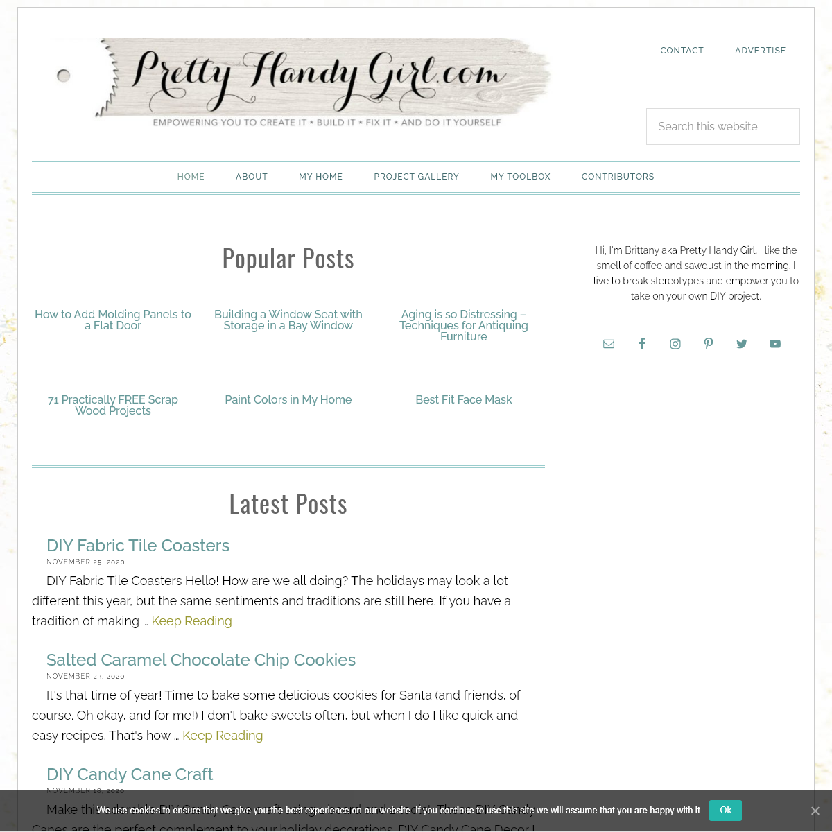 Pretty Handy Girl - A DIY Blog Empowering You to Complete Your Own Project. Build it, Fix it and Do it yourself. Home project tu