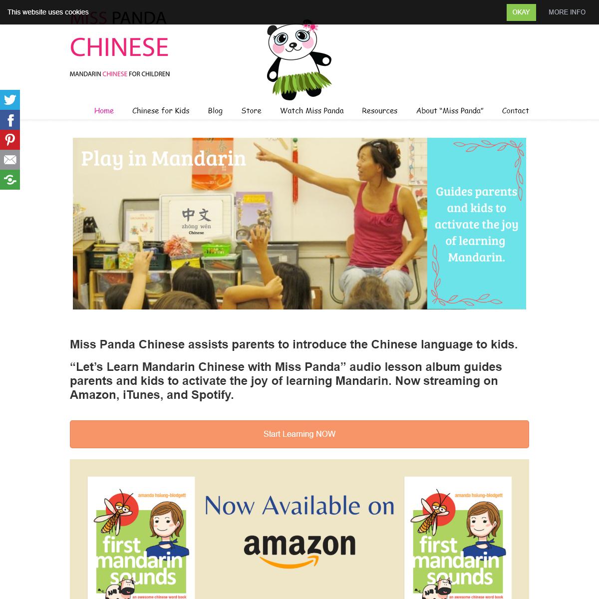 Miss Panda Chinese Mandarin Chinese for Children