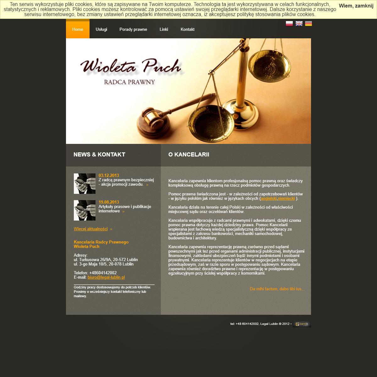 Home -- Kancelaria Radcy Prawnego Wioleta Puch