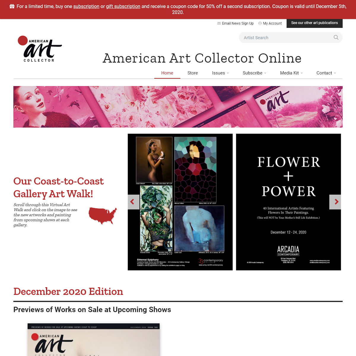 American Art Collector - A Monthly Magazine for Collectors, Galleries and Painters of Traditional Fine Art