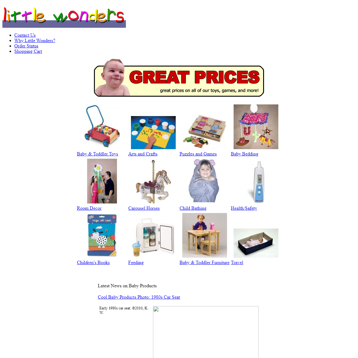 Baby gifts & baby products from the Little Wonders baby store