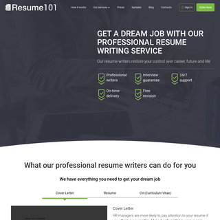 Land Your Dream Job with Our Professional Resume Writing Service - Resume101.org