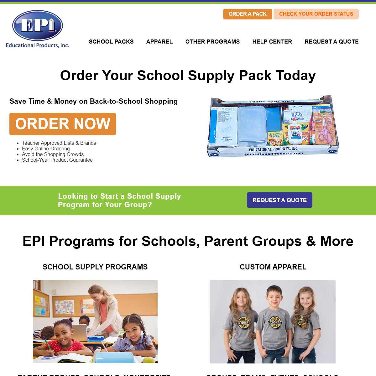 Educational Products, Inc. - #1 Prepackaged School Supply Company
