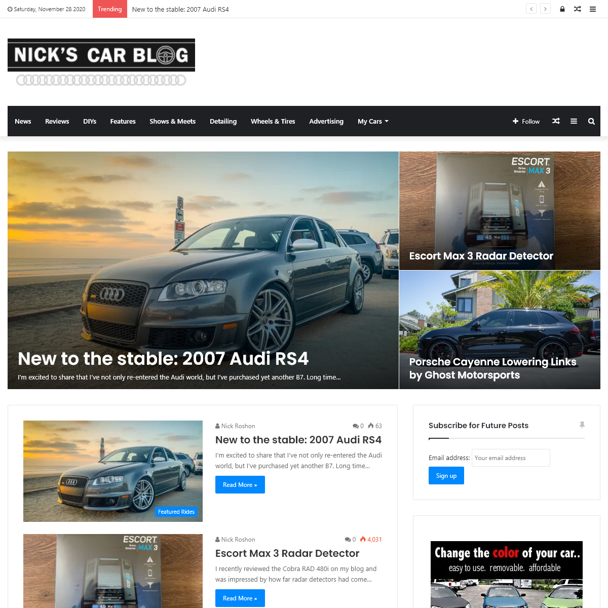 Nick`s Car Blog – A blog about Audis by Nick Roshon
