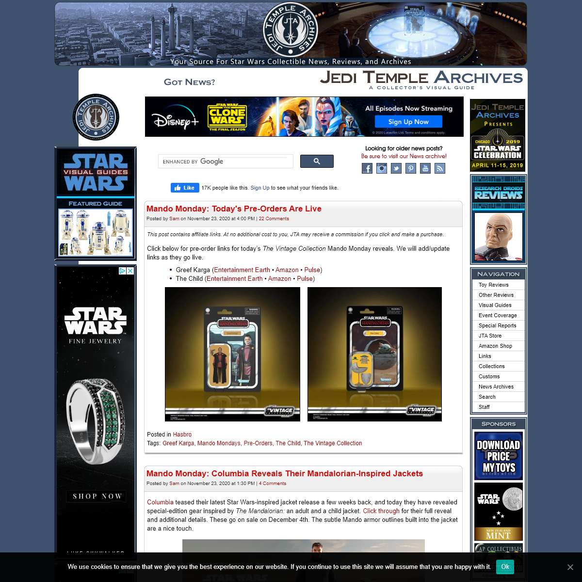 JediTempleArchives.com - A Star Wars Toys & Collectibles Resource; News, Visual Guides, and Reviews for Collectors