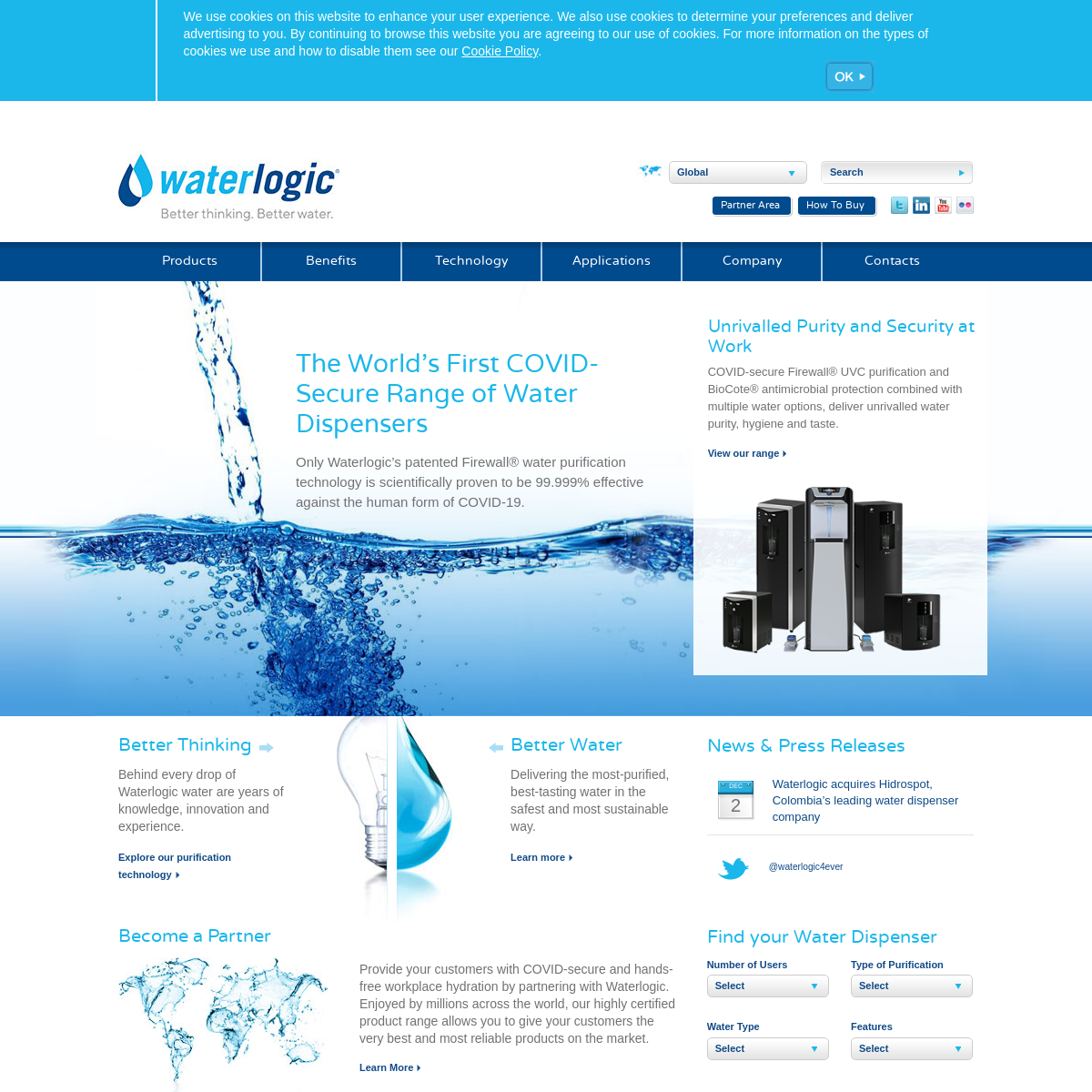 Water Coolers and Dispensers for Office and Home - Waterlogic