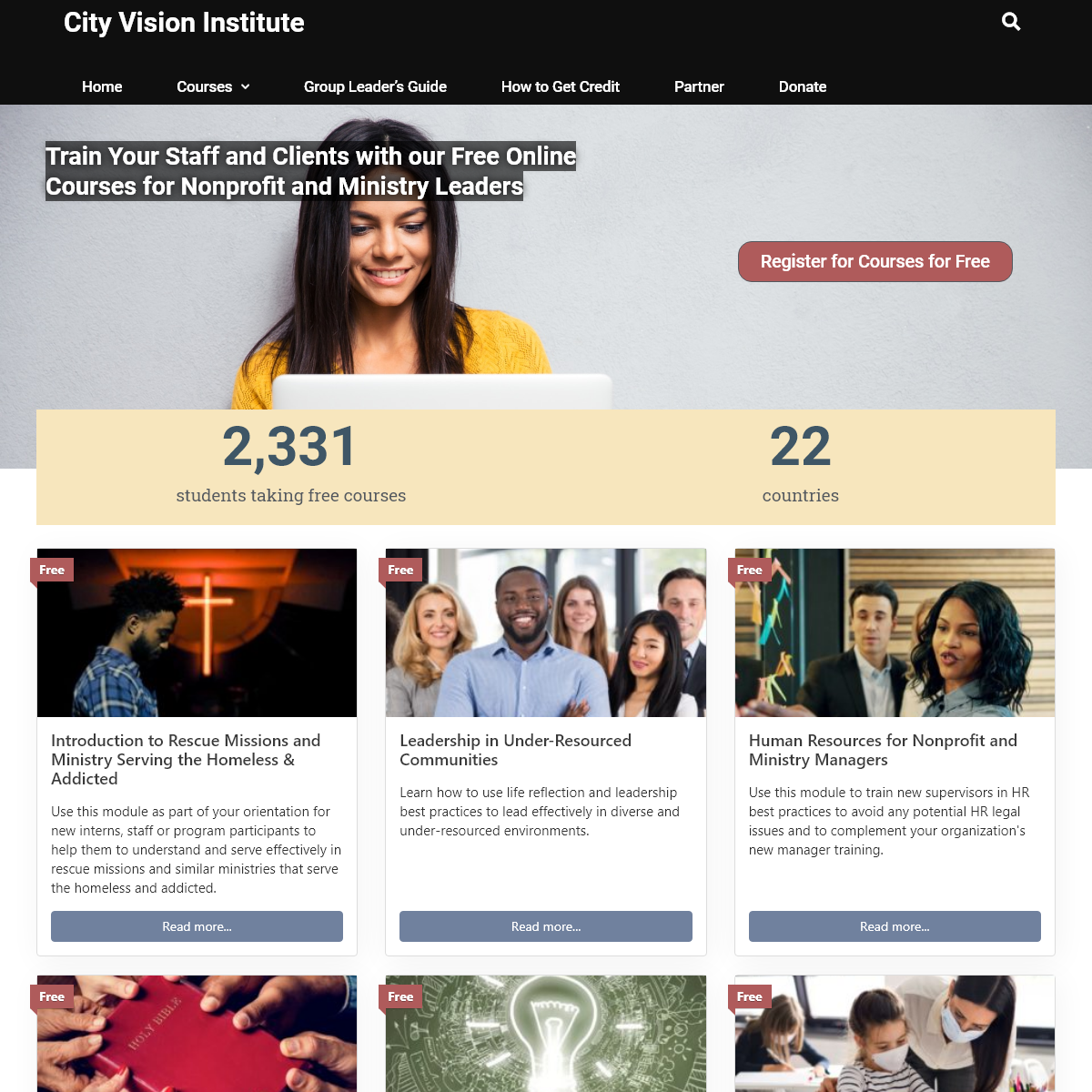 Free Courses for Christian Nonprofit and Ministry Leaders - City Vision Institute