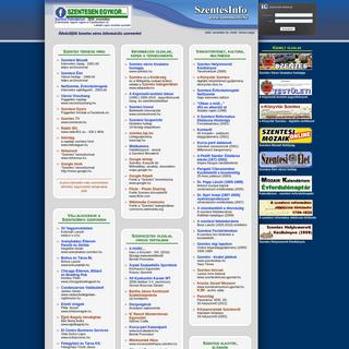 SzentesInfo - Szentes város információs szervere -TEAM Számítástechnika