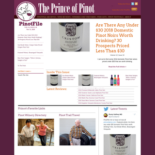 Home Page - The Prince of Pinot