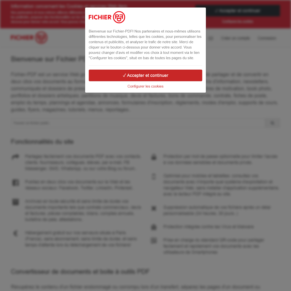Fichier PDF - Partage, hébergement, archivage et conversion de documents PDF