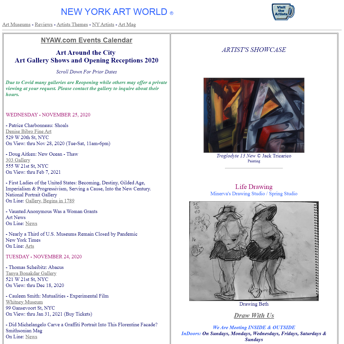 New York Art World® NYC City Art Culture & Gallery Receptions
