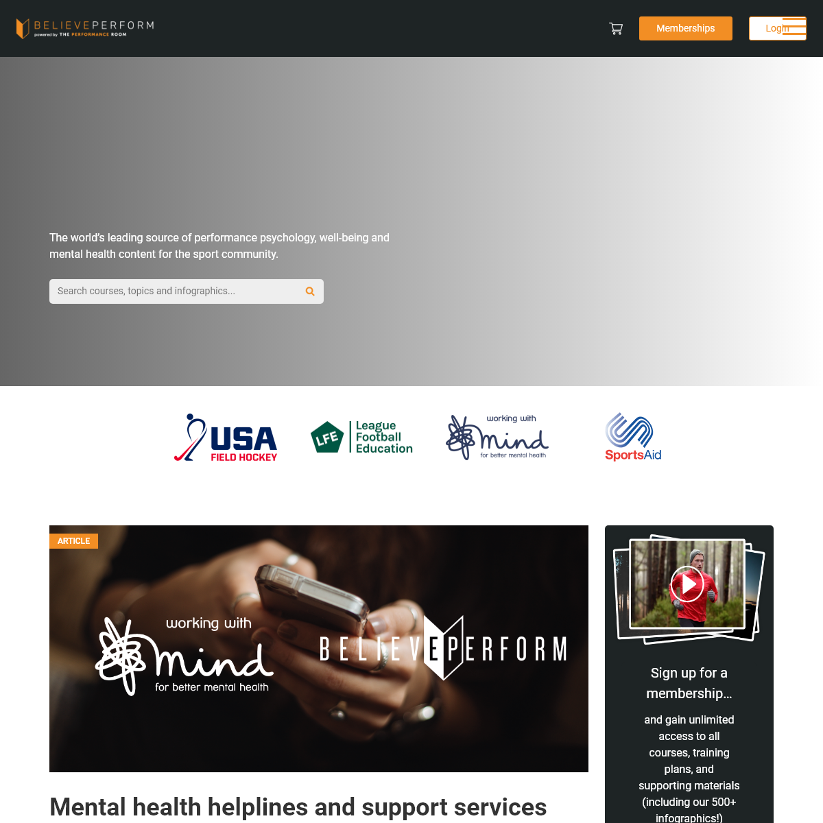 Home - BelievePerform - The UK`s leading Sports Psychology Website