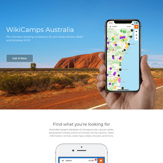WikiCamps Australia - Camping app - Travel - iPhone iPad iPod Android Phone Tablet - Camping, Caravan Parks, Backpacker Hostels,