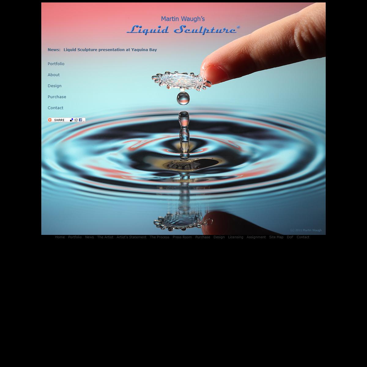 Liquid Sculpture - Water Drop Art