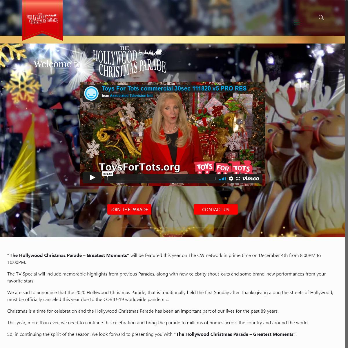 Home - The Hollywood Christmas Parade