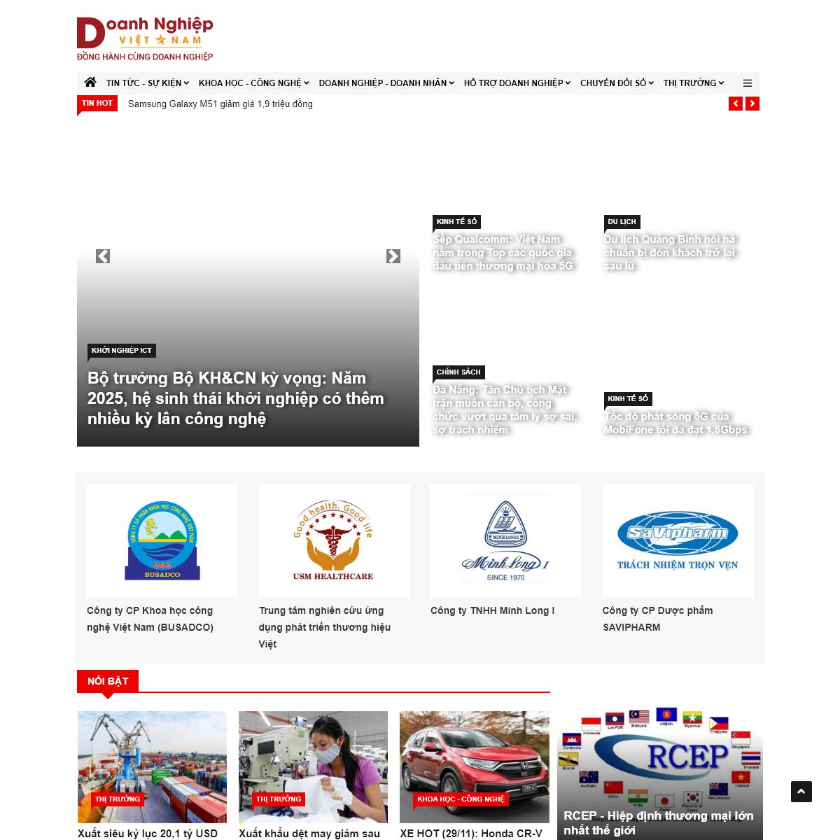 Tạp chí Doanh nghiệp Việt Nam, Đọc báo tin tức doanh nghiệp - Doanh nghiệp Việt Nam