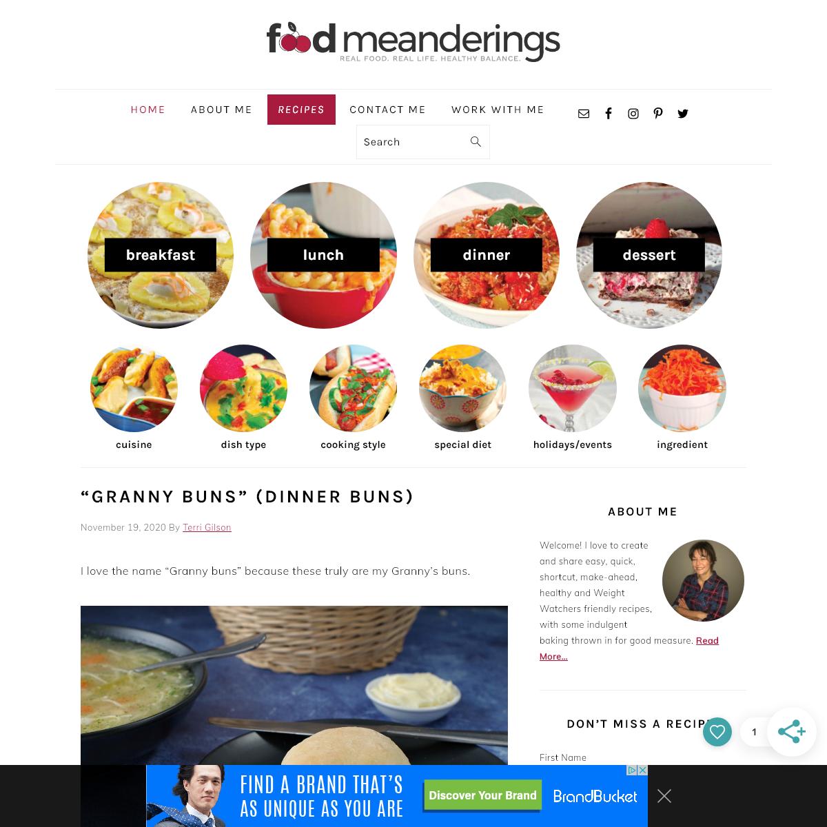 Food Meanderings - Real Food. Real Life. Healthy Balance.