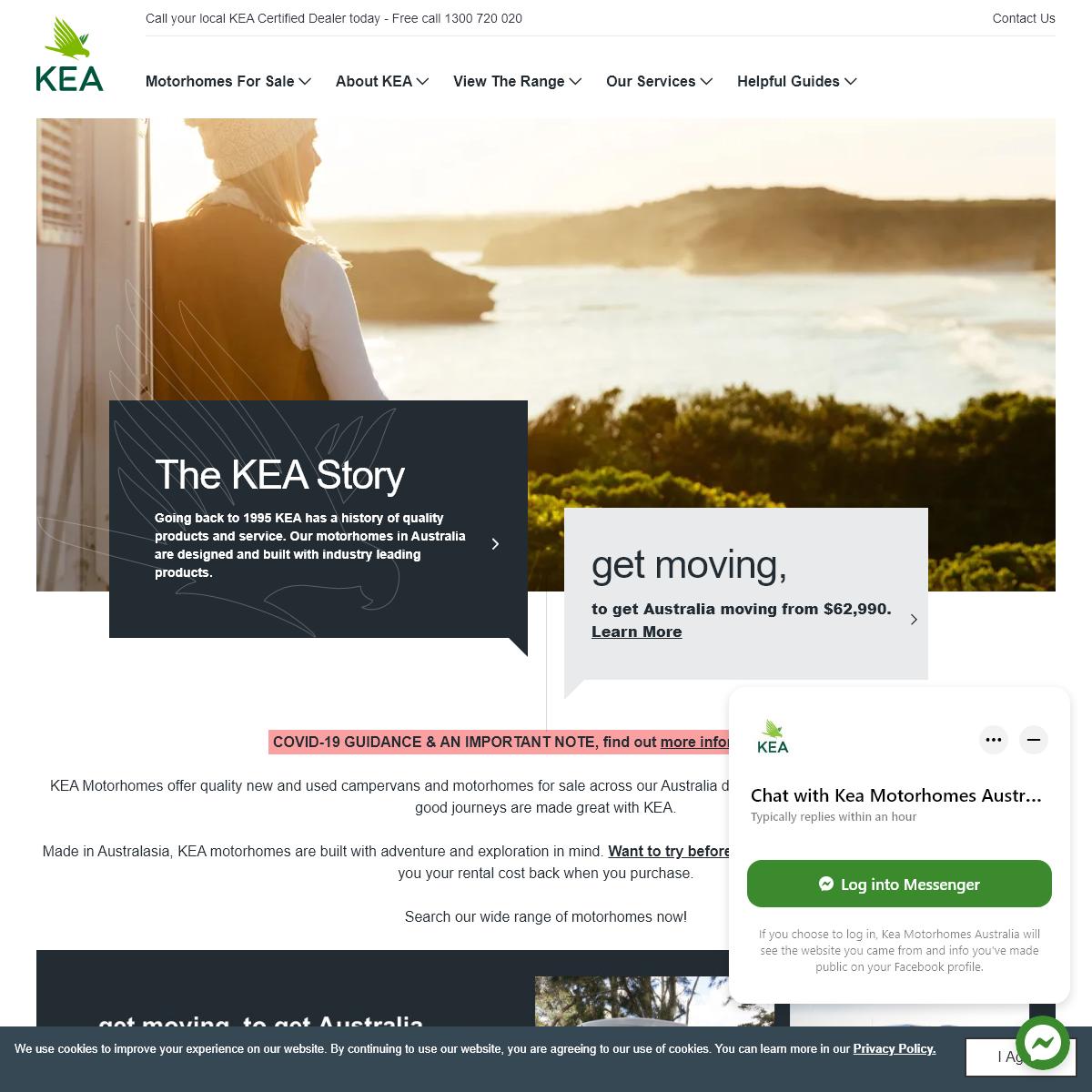 Australia`s Home of Campervans and RVs - KEA Motorhomes