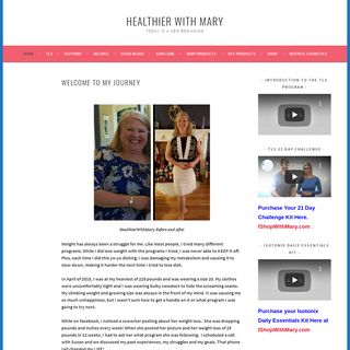 Healthier With Mary – TODAY IS A NEW BEGINNING