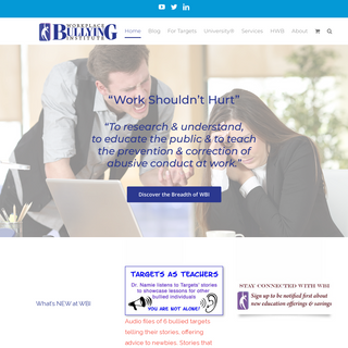 Workplace Bullying Institute – All Things Workplace Bullying