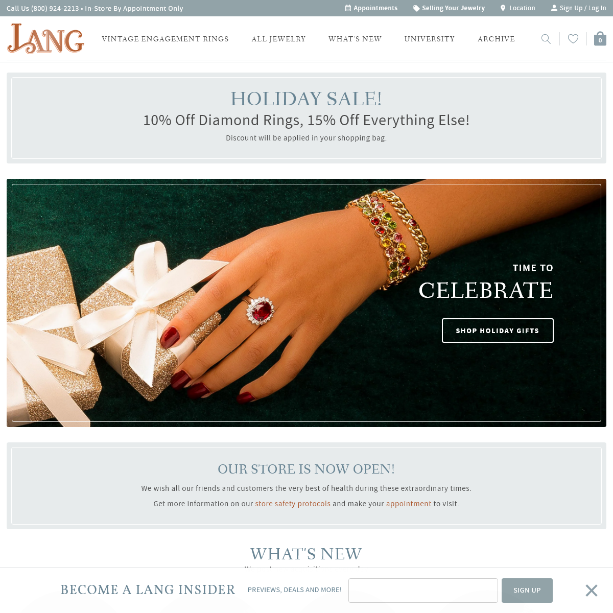 Lang Antique & Estate Jewelry- Engagement Rings & Vintage Jewelry