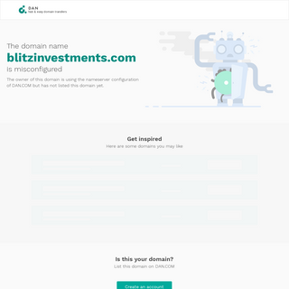 blitzinvestments.com - Misconfigured