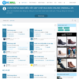 SẠP CHỢ ONEMALL - Chợ mua bán Online