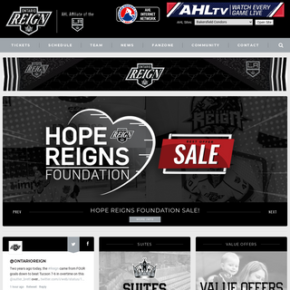 Ontario Reign - AHL Affiliate of the LA Kings -- Ontario Reign