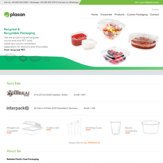 Plasan Plastic - Food packaging products from recycled.