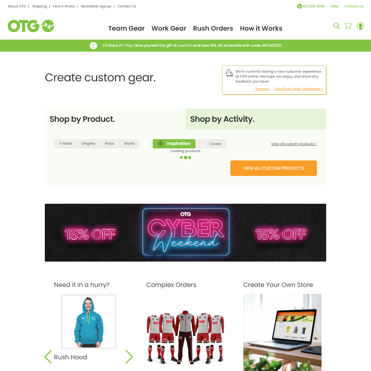 OTG - Create Custom Gear