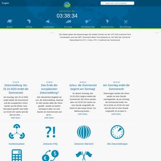 Aktuelle Uhrzeit und Datum - Weltzeituhr - Zeitzonen.de