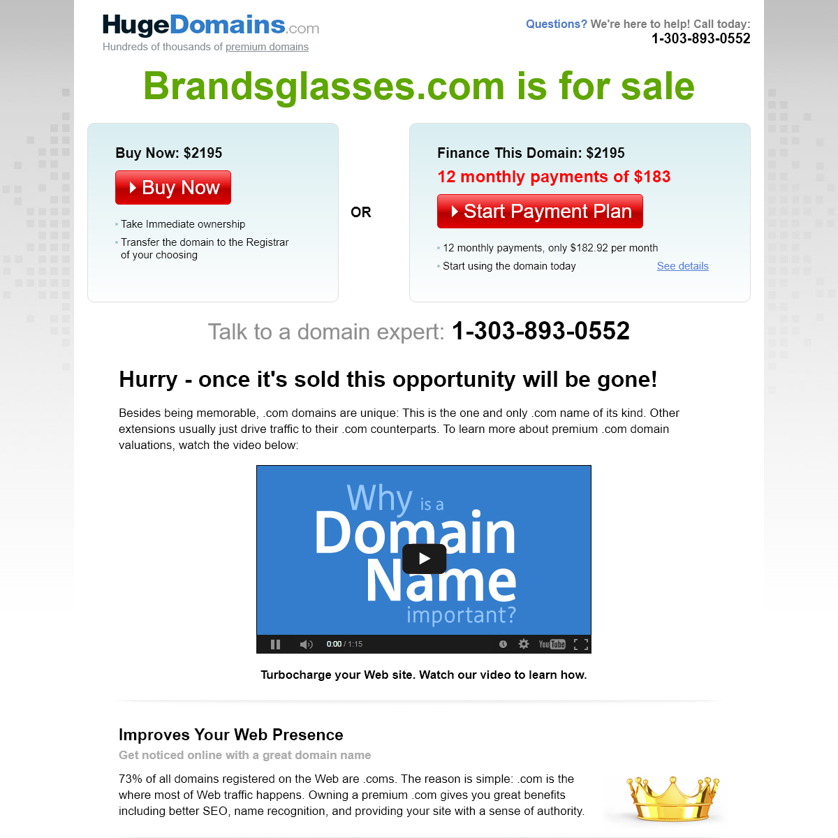 HugeDomains.com - Brandsglasses.com is for sale (Brandsglasses)