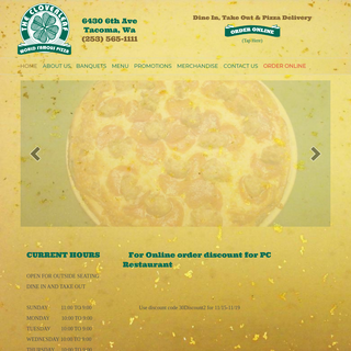 Cloverleaf Pizza – 253-565-1111 – World Famous Pizza Burgers Beer