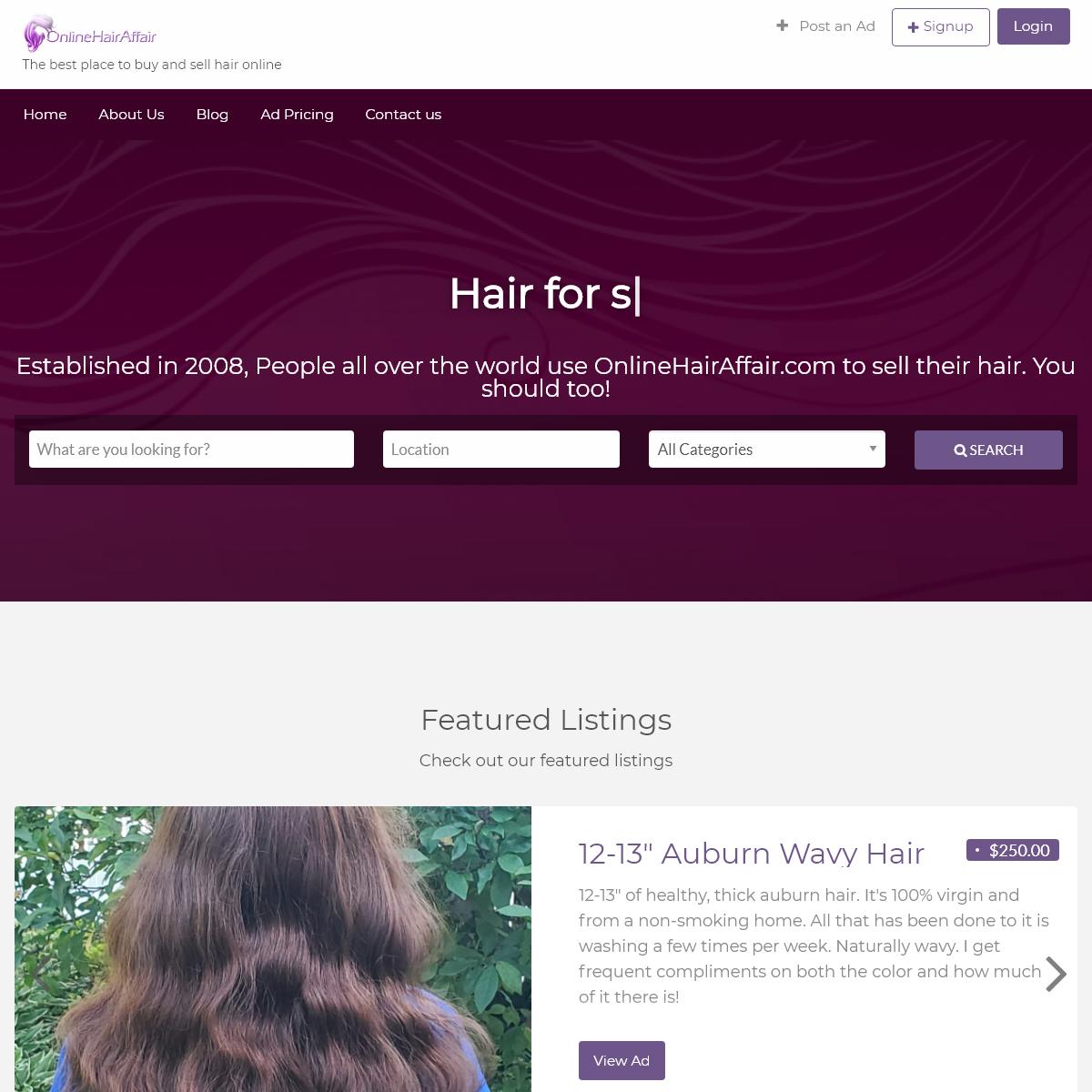Hair - Welcome to OnlineHairAffair.com