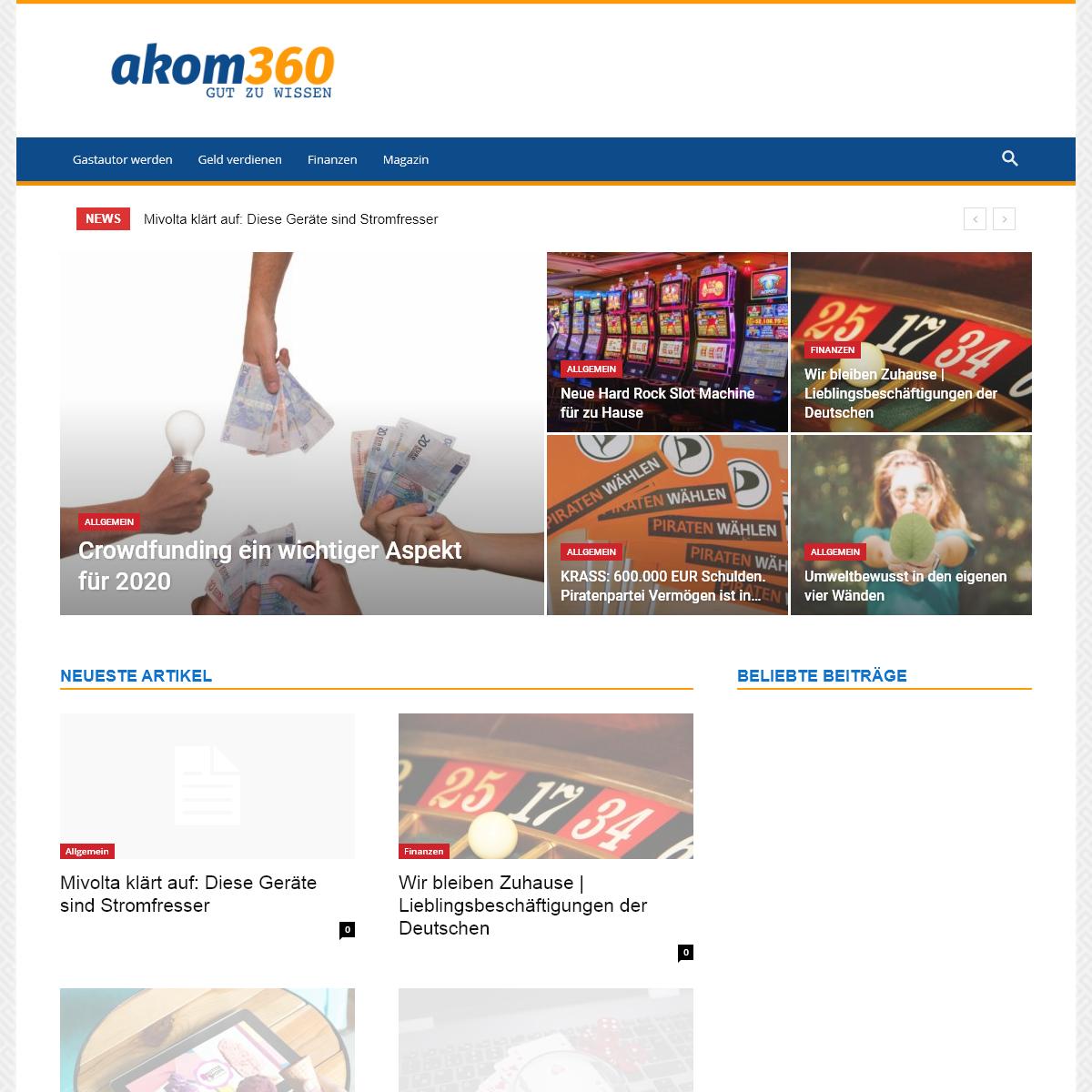 Startseite - Akom360 - gut zu wissen!