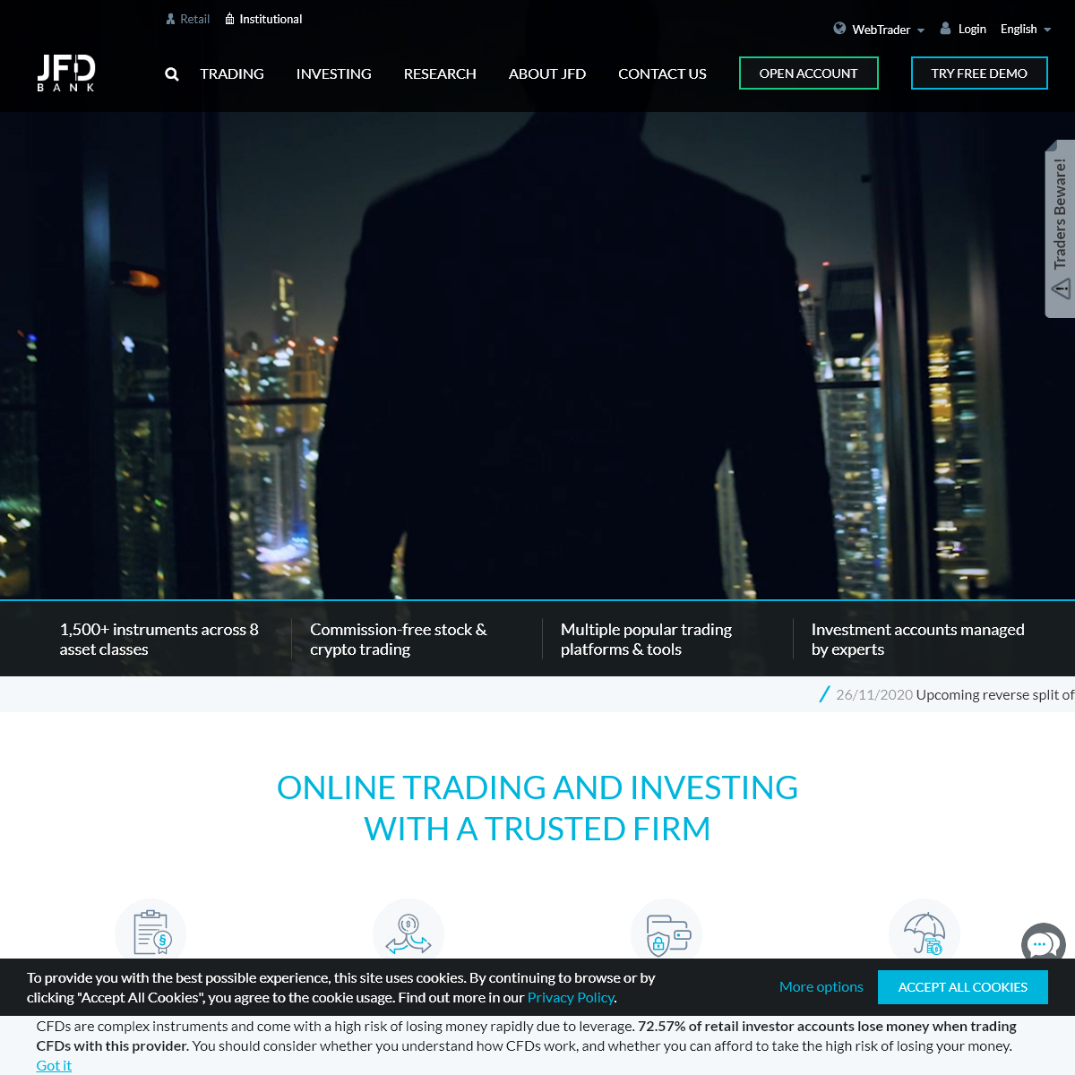 JFDBANK.com – One-Stop Multi-Asset Trading and Investing Experience
