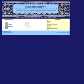Welcome to the Website of Muslim Women`s League